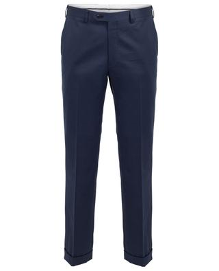 Tigullio cotton and cashmere blend slim fit trousers BRIONI