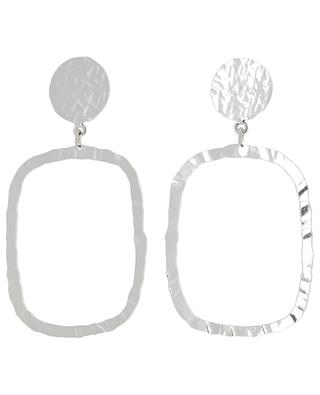 ART 0249 silver earrings with rectangle POGGI