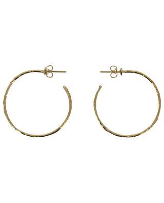 ART 0223 golden hammered hoop earrings POGGI