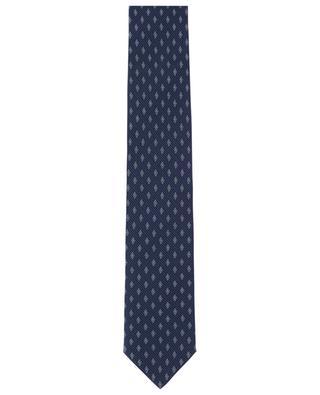 Krawatte aus Seidentwill mit Rauten- und Oval-Print BRIONI