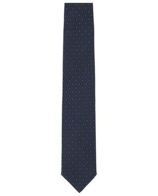 Cravate en sergé de soie imprimée losanges et ovales BRIONI