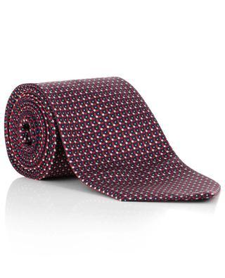 Scale pattern woven silk tie BRIONI
