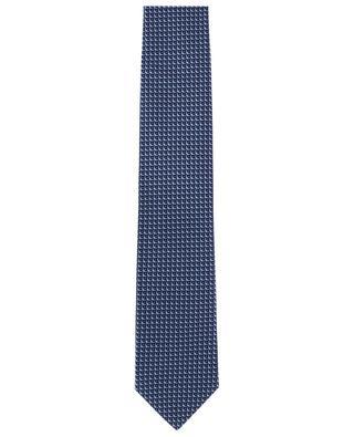 Cravatte tissée en soie motif écailles BRIONI