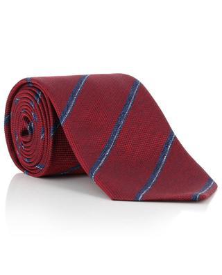 Woven silk tie adorned with diagonal stripes BRIONI