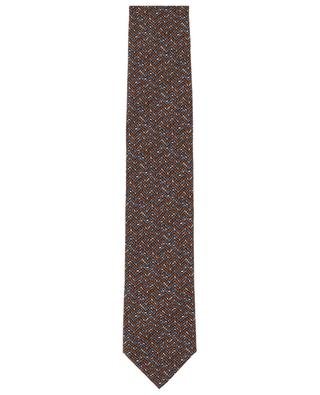 Tie and pocket square set in silk with zigzag pattern BRIONI
