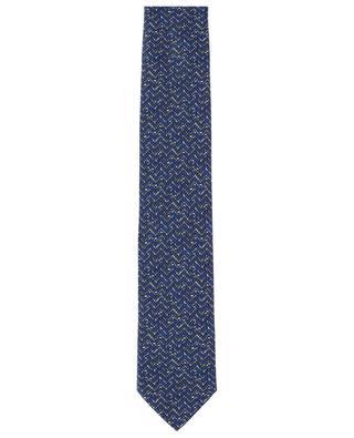 Set mit Krawatte und Einstecktuch aus Seide Motiv Zickzack BRIONI