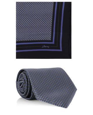Set aus Krawatte und Einstecktuch aus Seide mit Print BRIONI