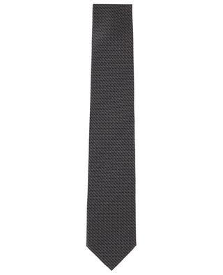 Set mit Krawatte und Einstecktuch aus Seide mit Rautenprint BRIONI