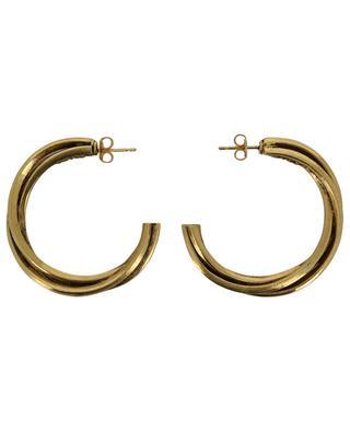 FAST 24 interlocked golden hoop earrings POGGI
