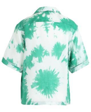 Kurzarm-Hemd mit Batik-Print aus Baumwolle und Seide ALANUI