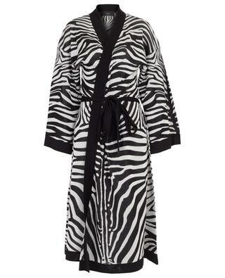 Kimono aus Seiden-Jacquard-Strick Zebra ALANUI