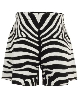 Shorts aus Kaschmir-Jacquard Zebra ALANUI