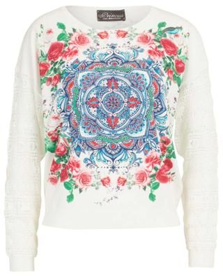 Fine jumper with mandala print and openwork details PRINCESS