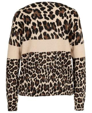 Glittering leopard print cotton and linen jumper PRINCESS