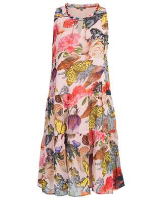Ärmelloses A-förmiges Kleid mit Print Pompano Rose PRINCESS
