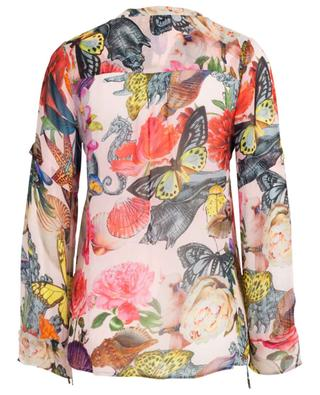 Transparente Bluse mit Print Pompano Rose PRINCESS