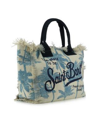 Vanity Palmazing palm print canvas tote bag MC2 SAINT BARTH