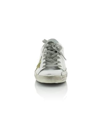 Ledersneakers mit Glitter-Sternen Superstar GOLDEN GOOSE