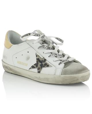 Ledersneakers mit Leoparden-Sternen Superstars GOLDEN GOOSE