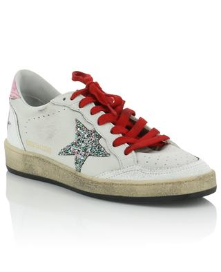 Ledersneakers mit Glittersternen Ball Star GOLDEN GOOSE
