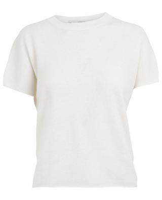 Cashmere and linen blend short sleeved jumper VINCE