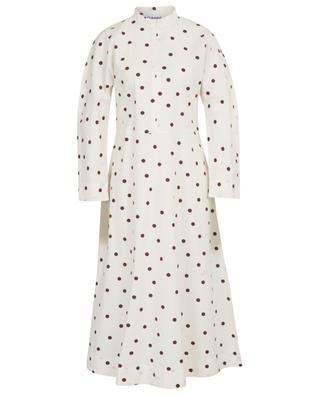 Polka dot print A-line midi dress GANNI