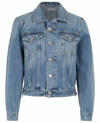 Denim jacket with zips GANNI