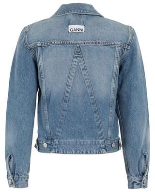 Denim jacket with zips GANNI