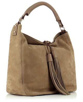 Hermine large nubuck leather tote bag BERTHILLE MAISON FRANCAISE