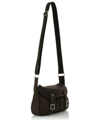Mini Pêche nubuck leather shoulder bag BERTHILLE CHARLES ET CHARLUS