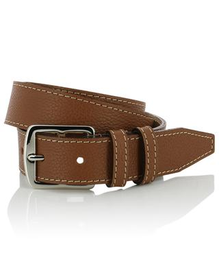 Grained leather belt BERTHILLE CHARLES ET CHARLUS
