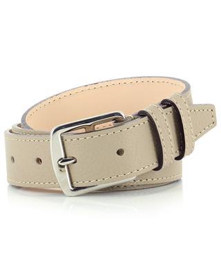 Grained leather belt BERTHILLE MAISON FRANCAISE