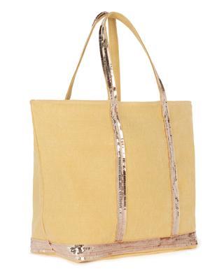 Medium linen canvas tote bag with sequins VANESSA BRUNO