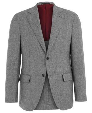 Blazer en laine, lin et soie motifs chevrons Aida CARUSO