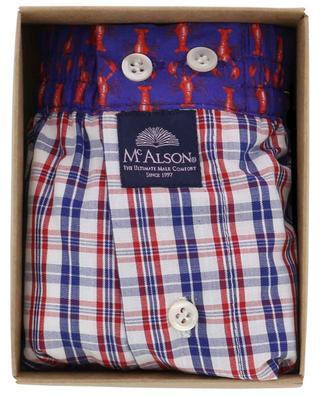 Boxershorts mit Krebsprint und Karos aus Baumwolle MC ALSON