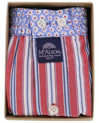 Gestreifte Boxershorts mit Blütenprint aus Baumwolle MC ALSON
