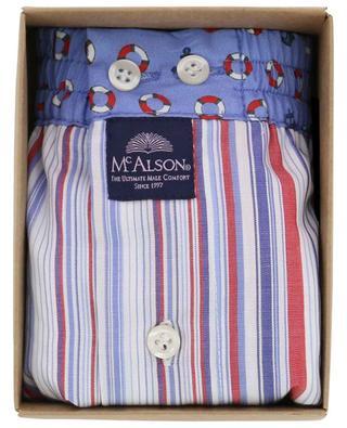 Baumwollboxershorts mit Streifen und Schwimmreifen MC ALSON