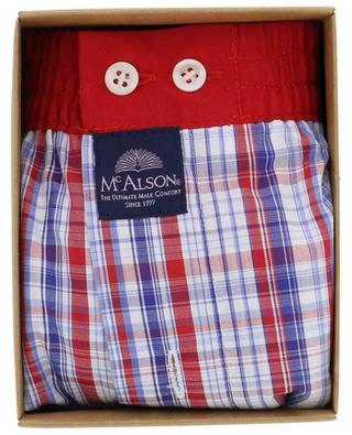 Rot-blau karierte Boxershorts aus Baumwolle MC ALSON
