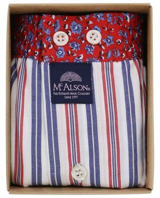 Baumwollboxershorts mit Streifen und Blüten MC ALSON