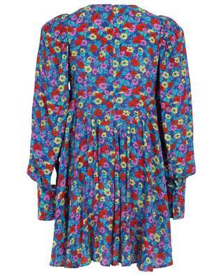 Allison floral puff sleeve A-line mini dress ROTATE BIRGERCHRISTENSEN