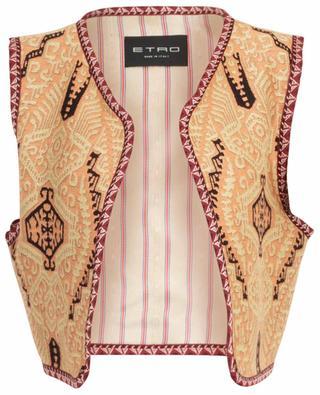 Jacquard vest with ethnic motifs ETRO