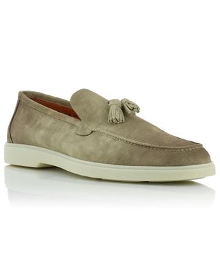 Suede loafers with tassels SANTONI