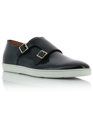 Chaussures à double bride en cuir semelles contrastées SANTONI