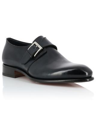 Chaussures à boucle en cuir lisse SANTONI