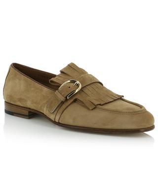 Fringed suede loafers SANTONI