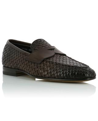 Woven leather loafers SANTONI