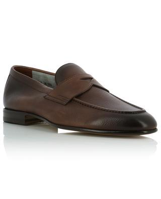 Colour gradient grained leather loafers SANTONI