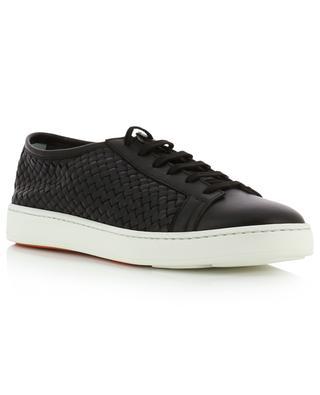 Braided leather sneakers SANTONI