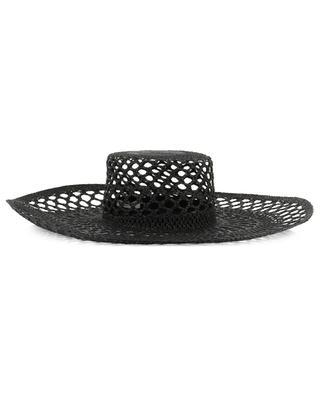 Large brimmed openwork straw hat INVERNI FIRENZE