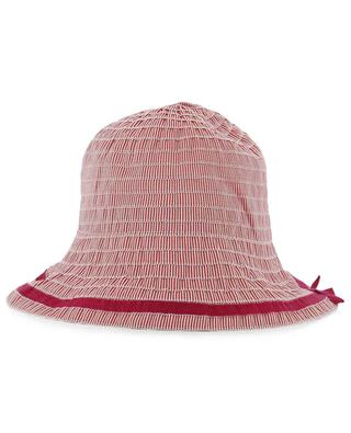 Chapeau cloche rayé avec noeud GREVI